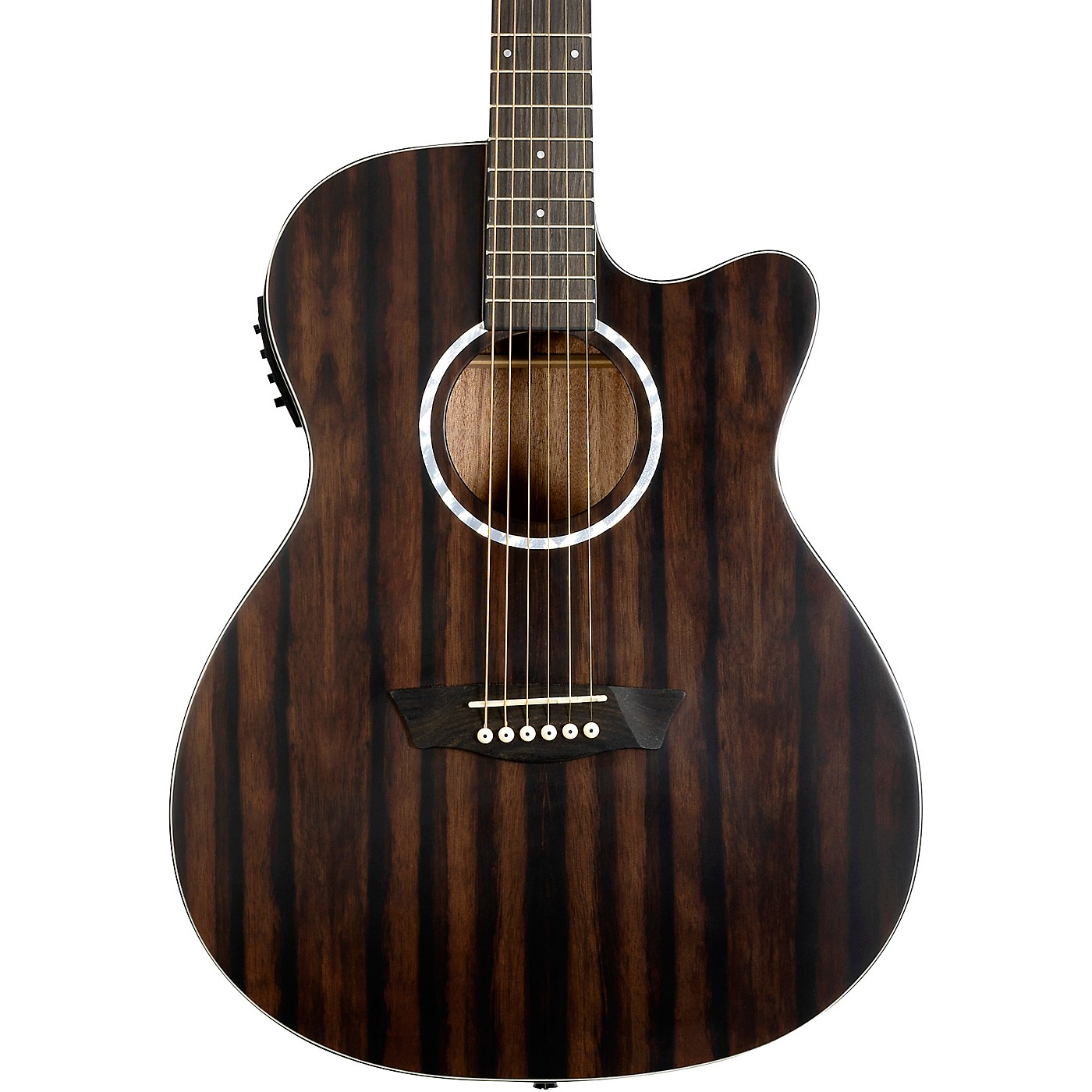Washburn Deep Forest Ebony ACE Acoustic-Electric Guitar thumbnail