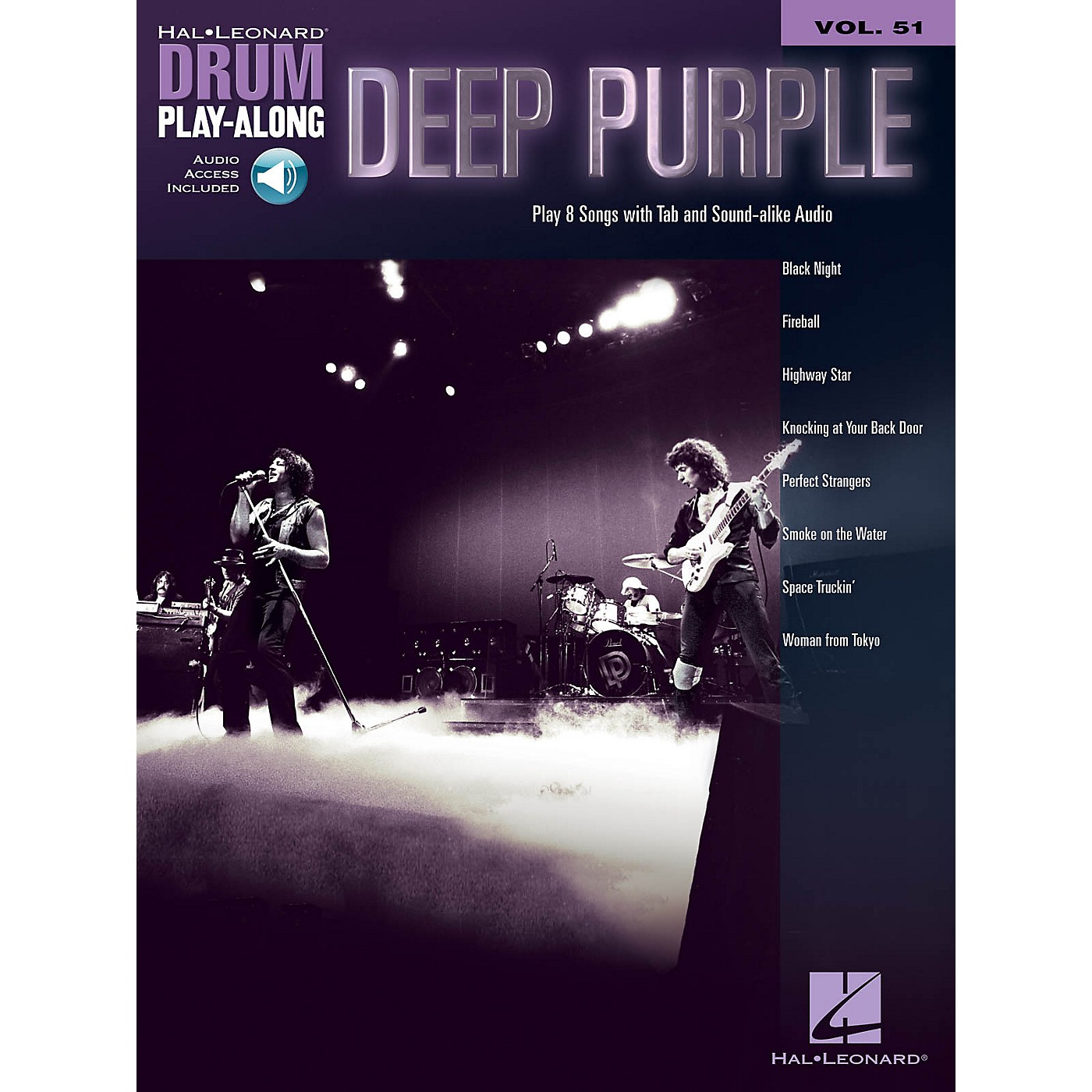 Hal Leonard Deep Purple Drum Play-Along Volume 51 Book/Audio Online thumbnail