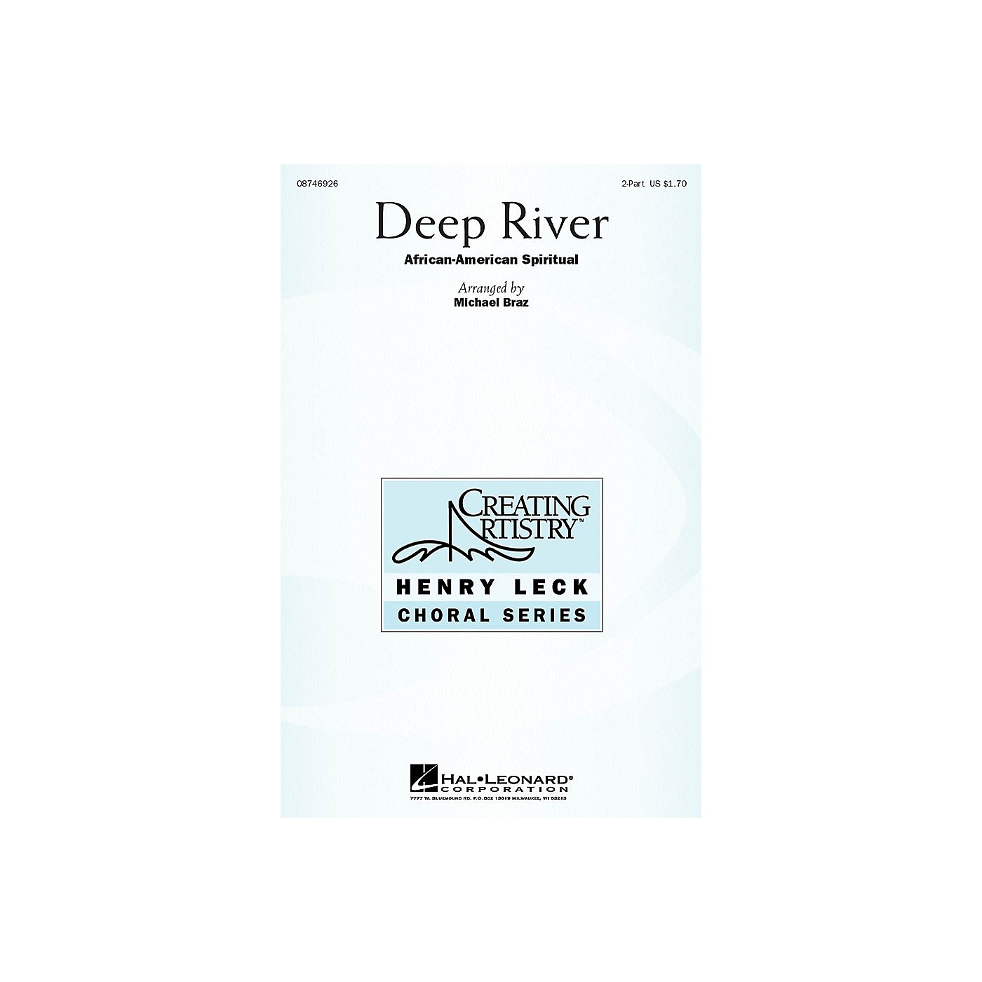 Hal Leonard Deep River 2-Part arranged by Michael Braz thumbnail