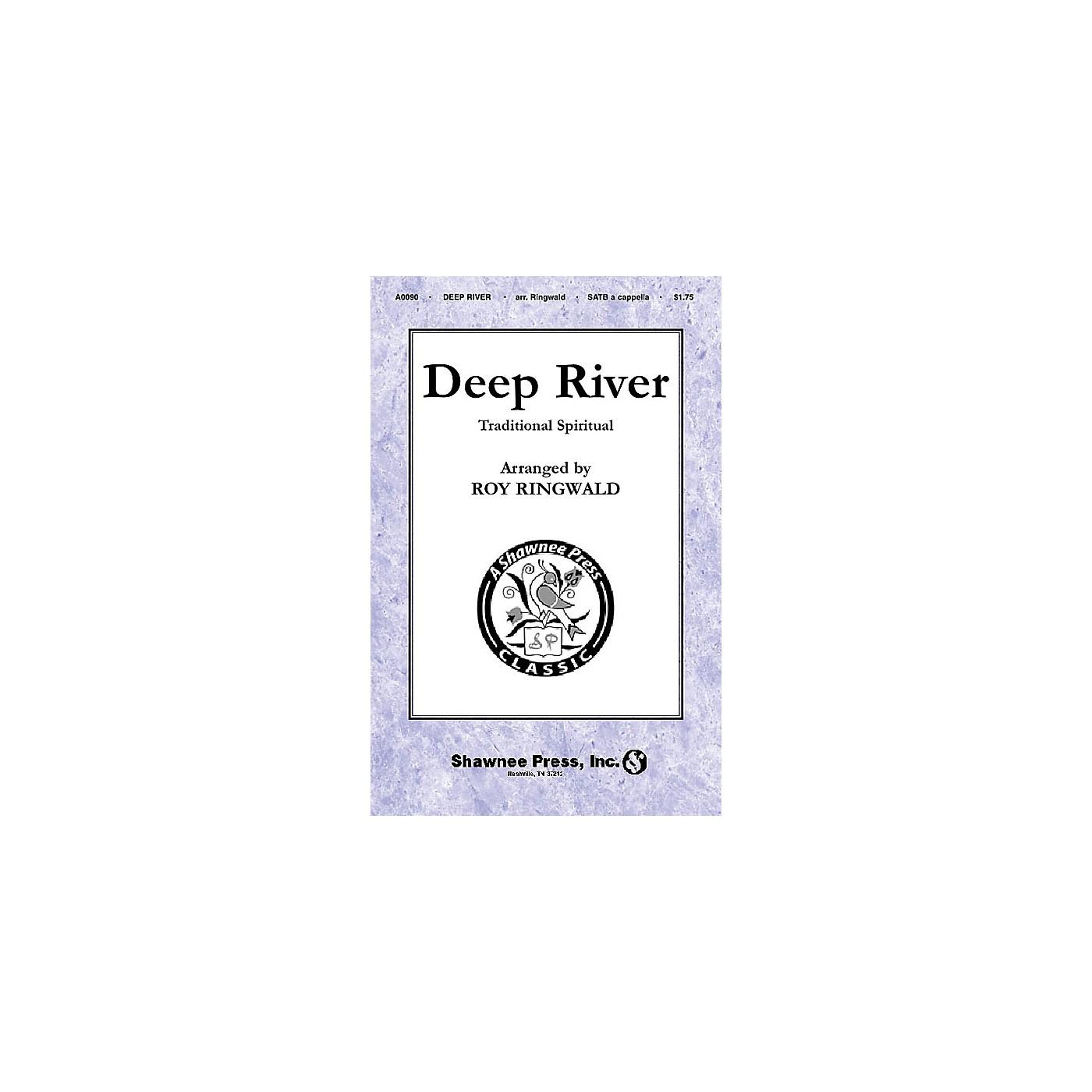 Shawnee Press Deep River SATB a cappella arranged by Roy Ringwald thumbnail