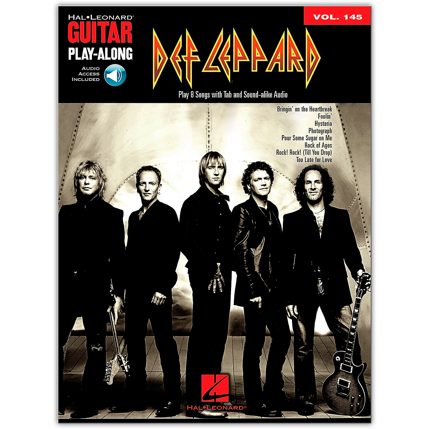 Hal Leonard Def Leppard Guitar Play-Along Volume 145 (Book/Online Audio) thumbnail