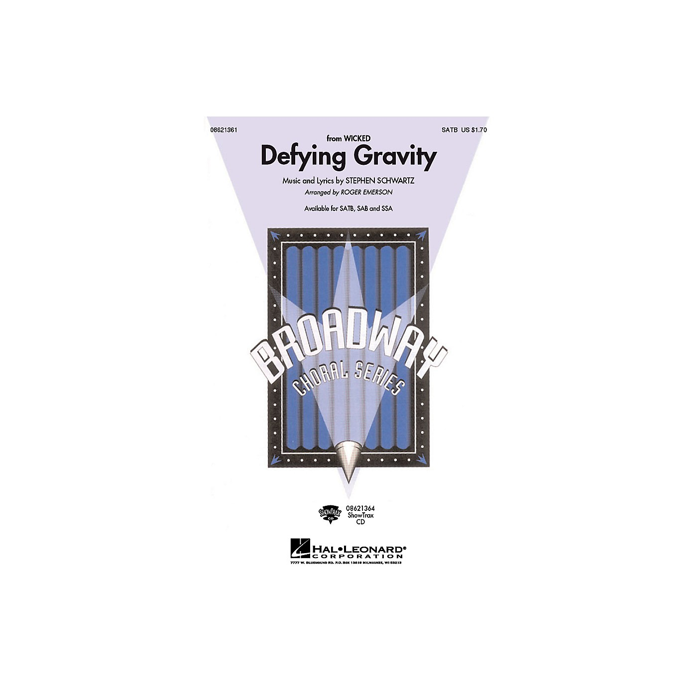 Hal Leonard Defying Gravity (from Wicked) SAB Arranged by Roger Emerson thumbnail
