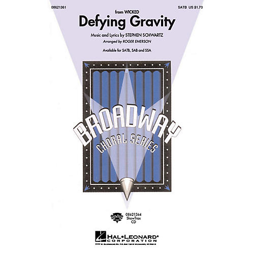 Hal Leonard Defying Gravity (from Wicked) ShowTrax CD Arranged by Roger Emerson thumbnail
