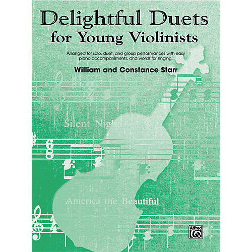 Alfred Delightful Duets for Young Violinists, Piano Accompaniment (Book) thumbnail