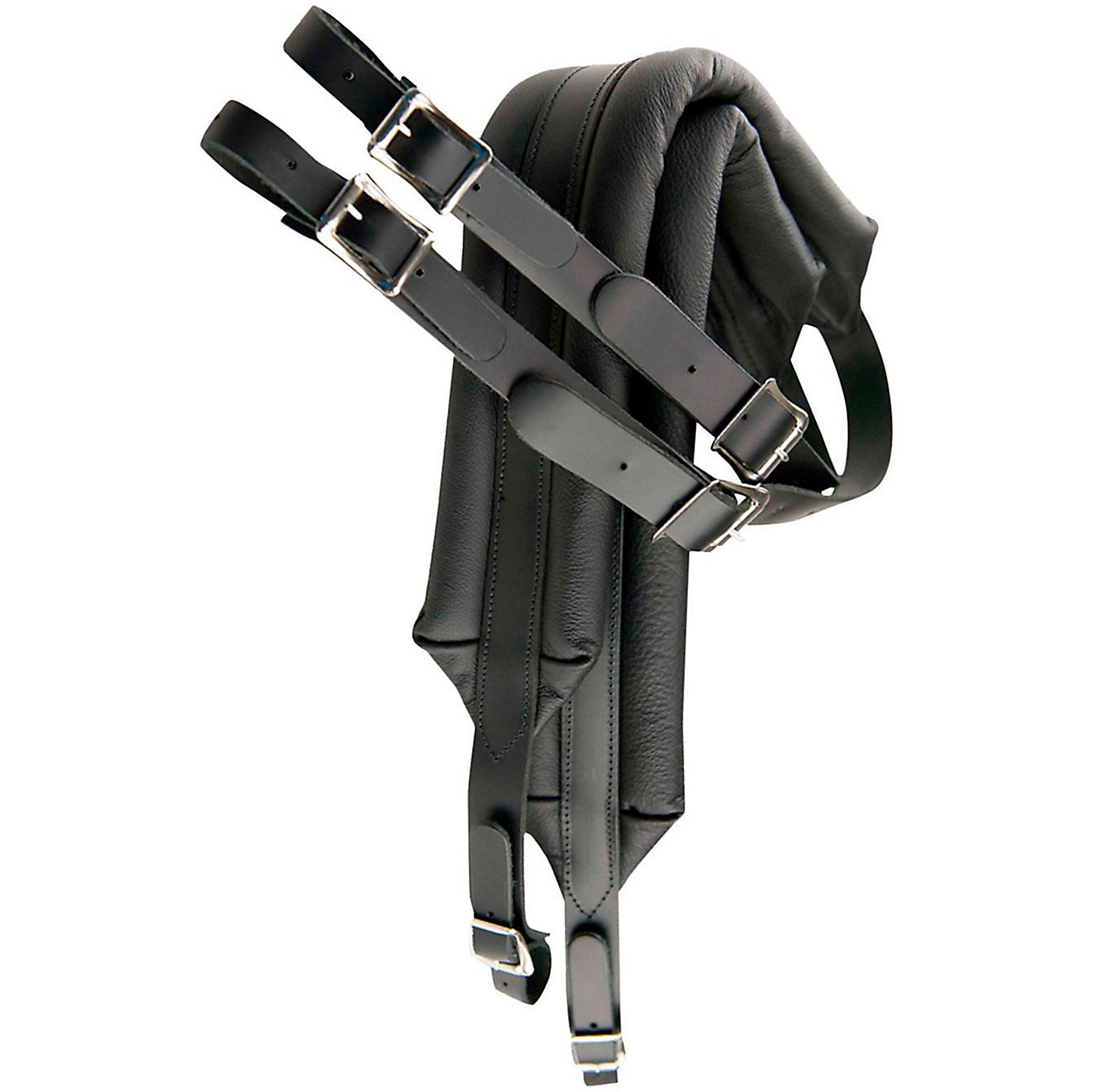 Perri's Deluxe Leather Accordion Strap with Metal Buckles thumbnail