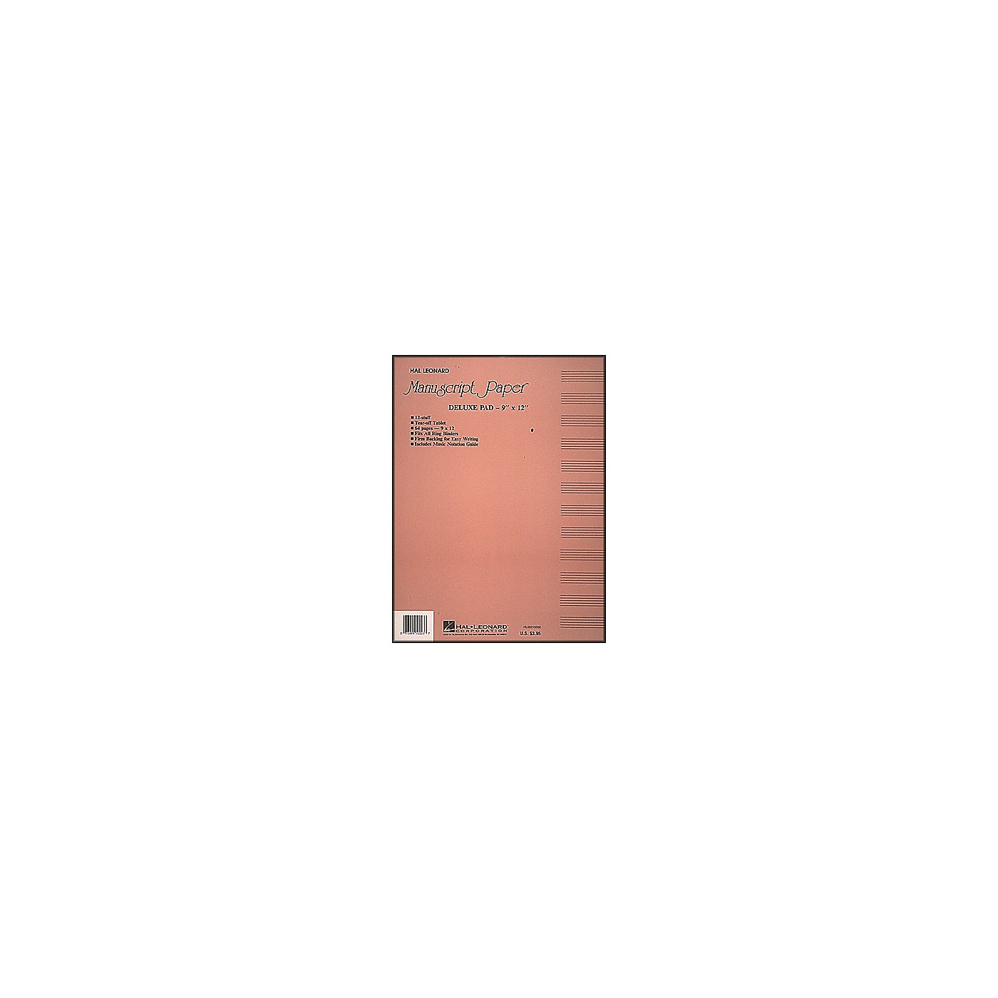 Hal Leonard Deluxe Manuscript Paper Pad (9 X 12) thumbnail