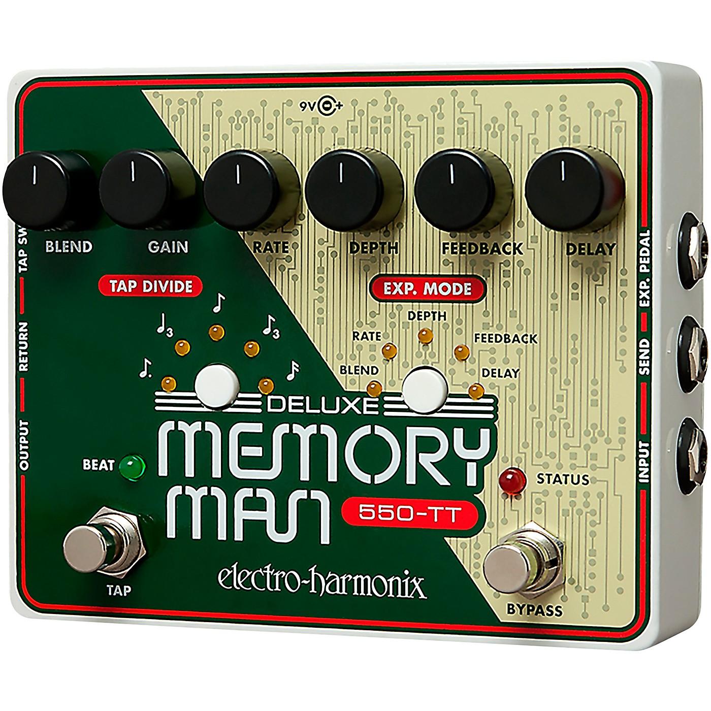 Electro-Harmonix Deluxe Memory Man Tap Tempo 550 Delay Guitar Effects Pedal thumbnail