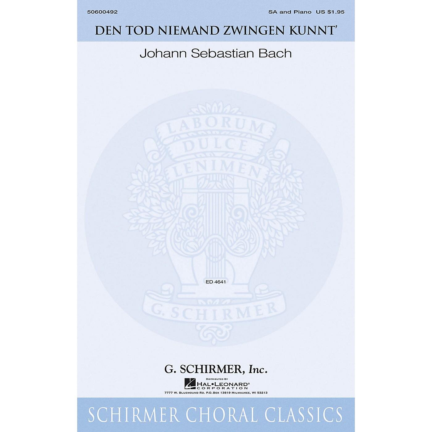 G. Schirmer Den Tod Niemand zwingen kunnt' (Schirmer Choral Classics) SA composed by Johann Sebastian Bach thumbnail