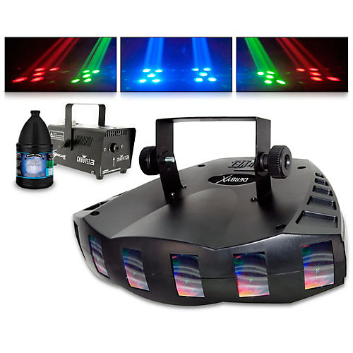 CHAUVET DJ Derby  X with Hurricane 700 Fog Machine and Juice thumbnail