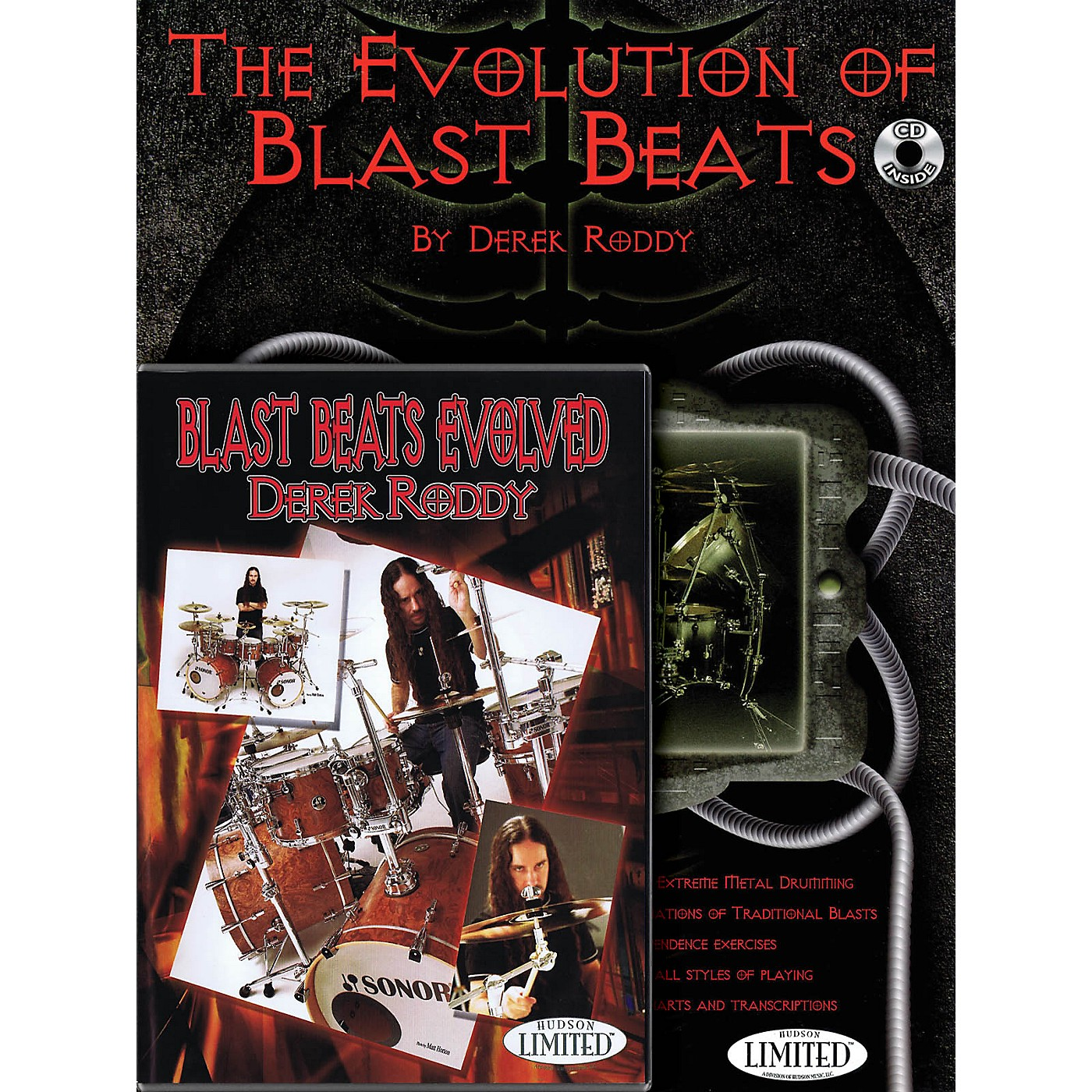 Hudson Music Derek Roddy - Complete Blast Beats Method (Book/CD/DVD Pack) DVD Series Performed by Derek Roddy thumbnail
