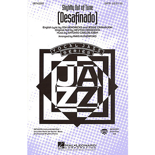 Hal Leonard Desafinado (Slightly Out of Tune) SATB arranged by Paris Rutherford thumbnail