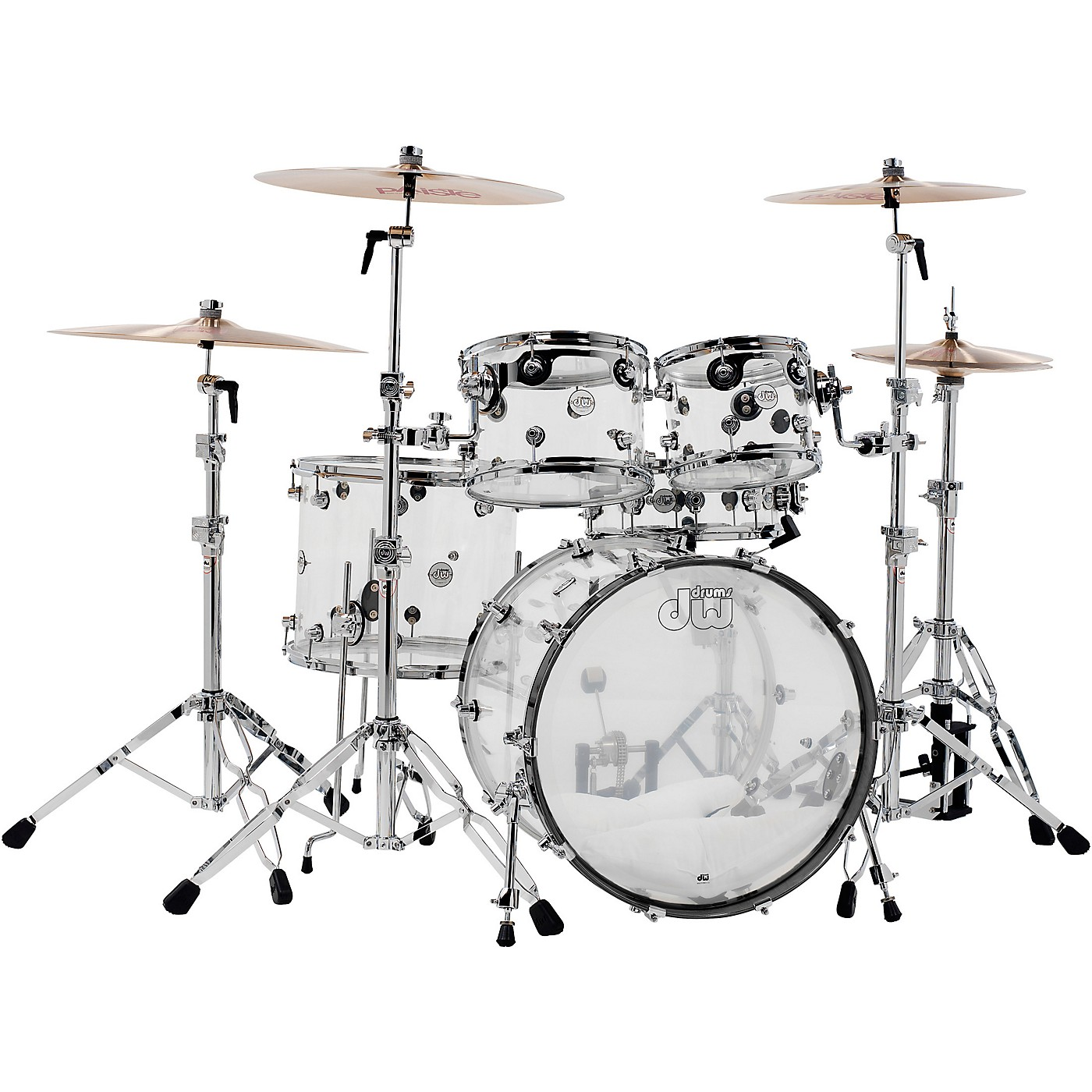 DW Design Series Acrylic 5-Piece Shell Pack with Chrome Hardware thumbnail