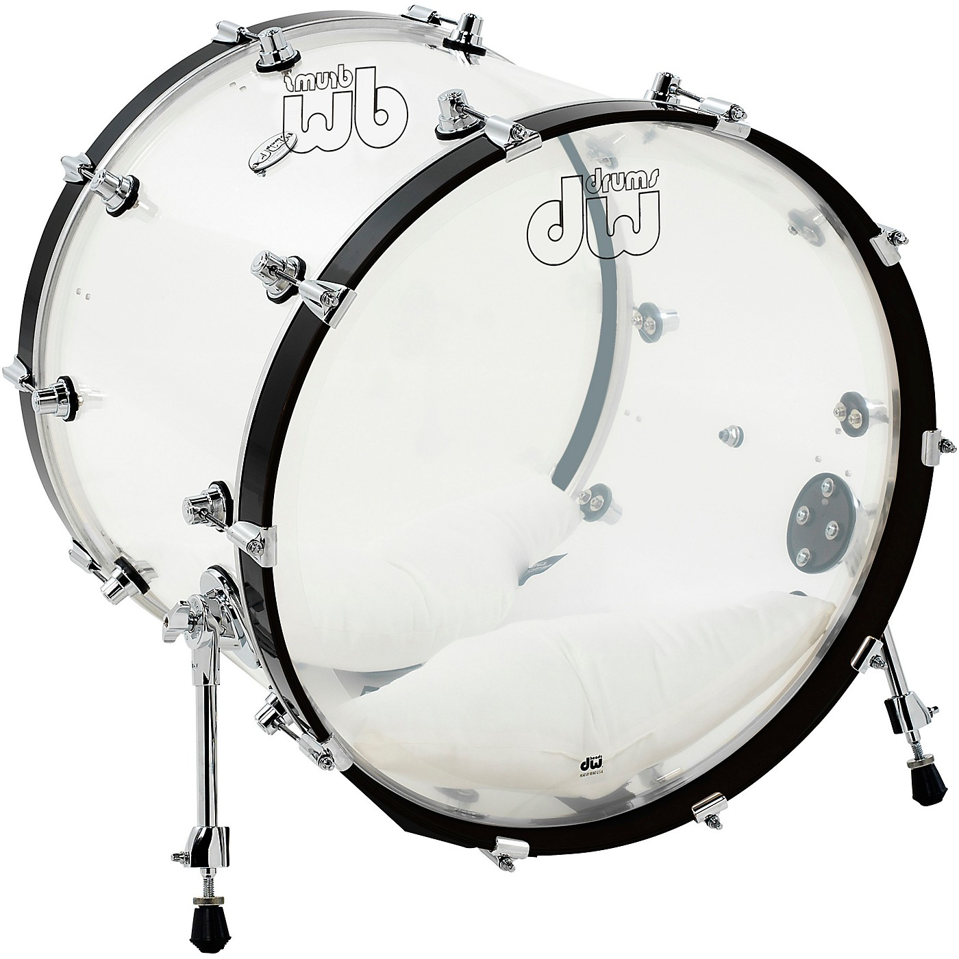 DW Design Series Acrylic Bass Drum with Chrome Hardware thumbnail