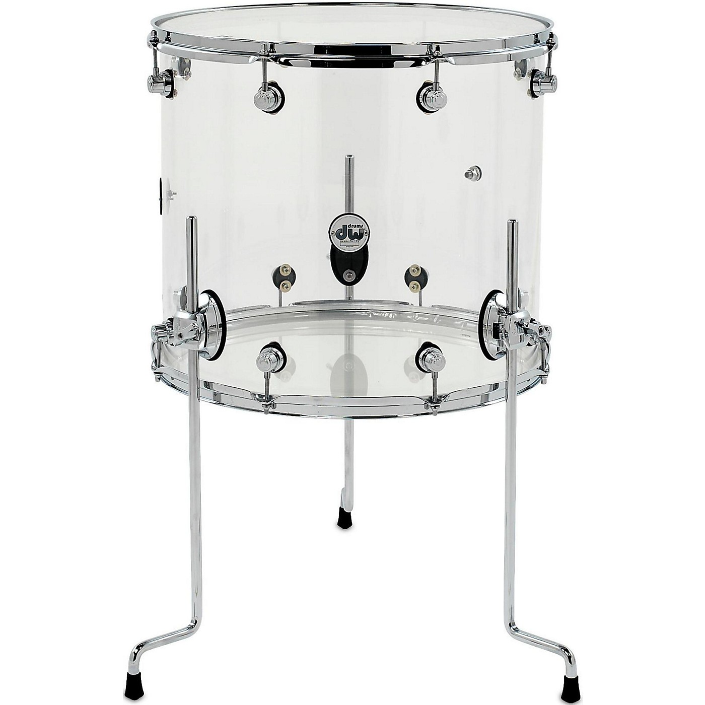 DW Design Series Acrylic Floor Tom with Chrome Hardware thumbnail