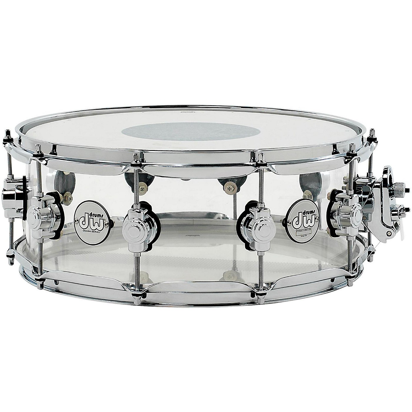 DW Design Series Acrylic Snare Drum with Chrome Hardware thumbnail