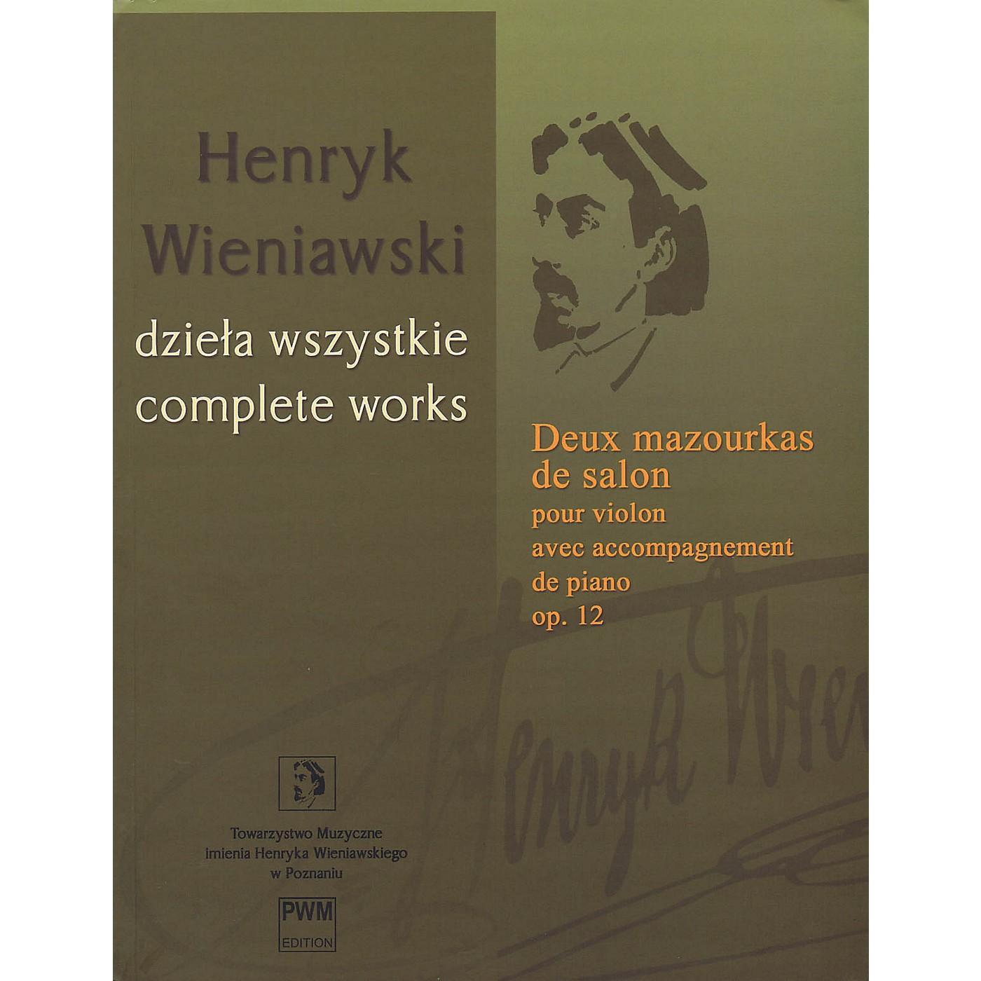 PWM Deux Mazourkas de salon, Op. 12 (Henryk Wieniawski Complete Works Series A, Vol. 18) PWM Series Softcover thumbnail