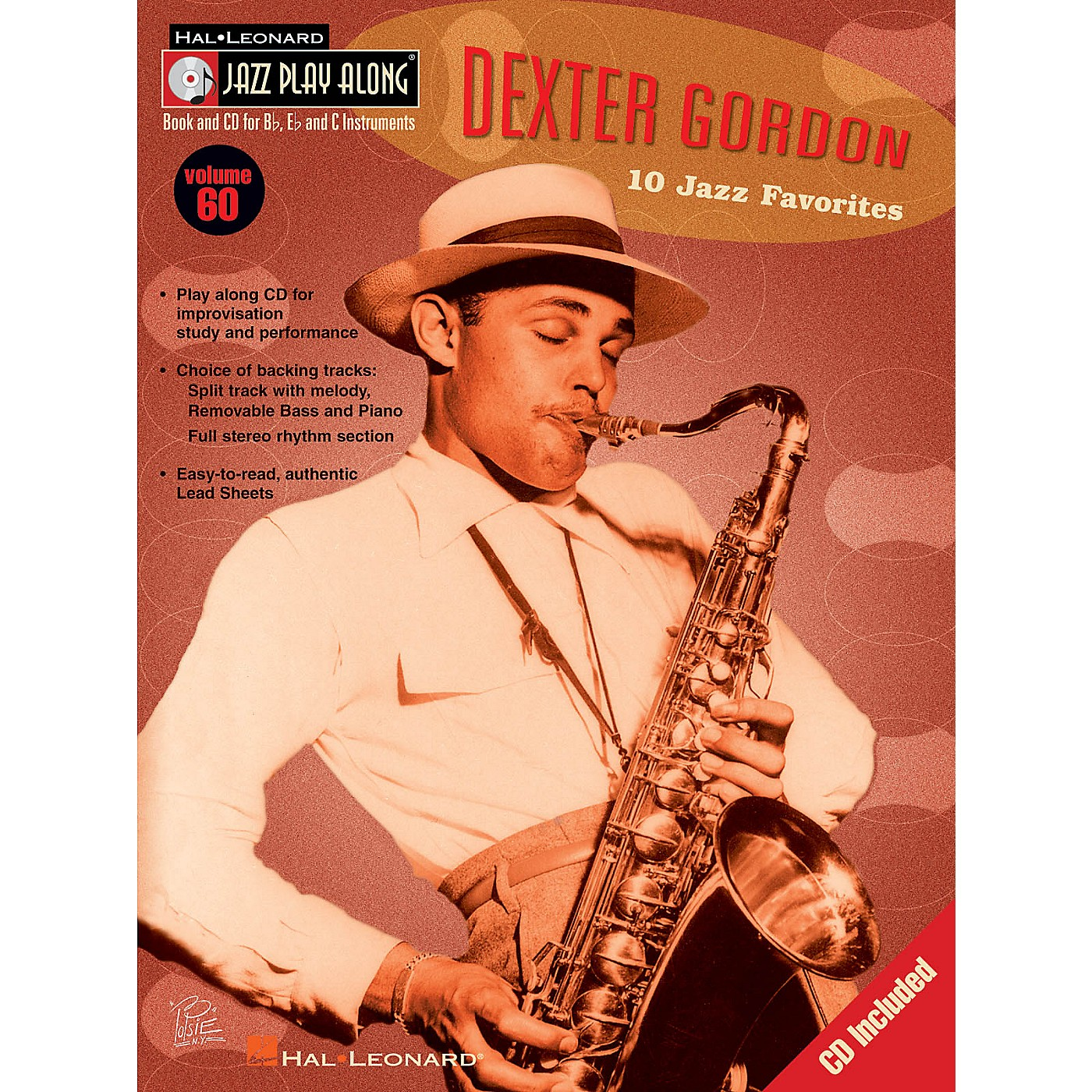 Hal Leonard Dexter Gordon (Jazz Play-Along Volume 60) Jazz Play Along Series Softcover with CD by Dexter Gordon thumbnail