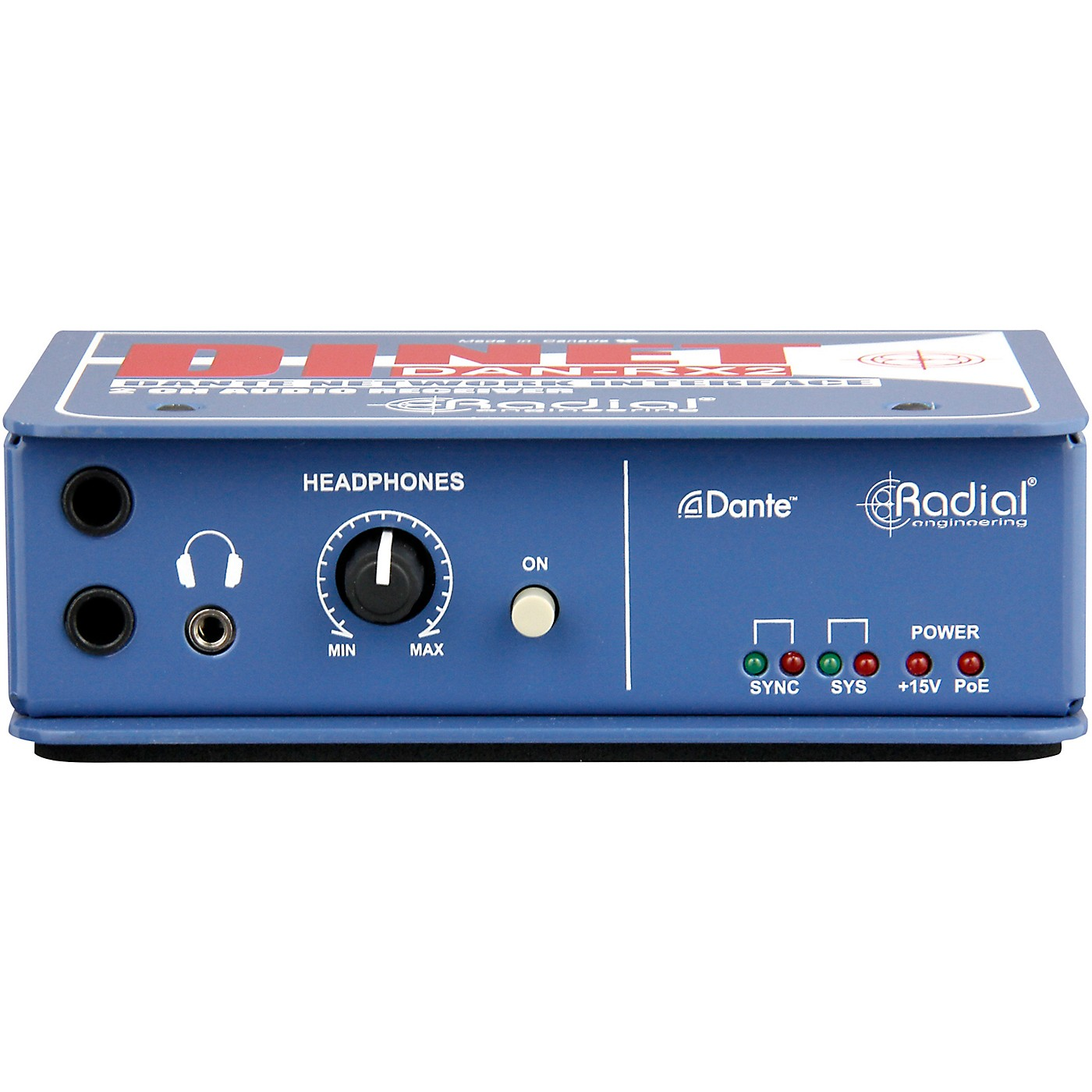 Radial Engineering DiNET DAN-RX2 2-Channel Dante Network Receiver thumbnail