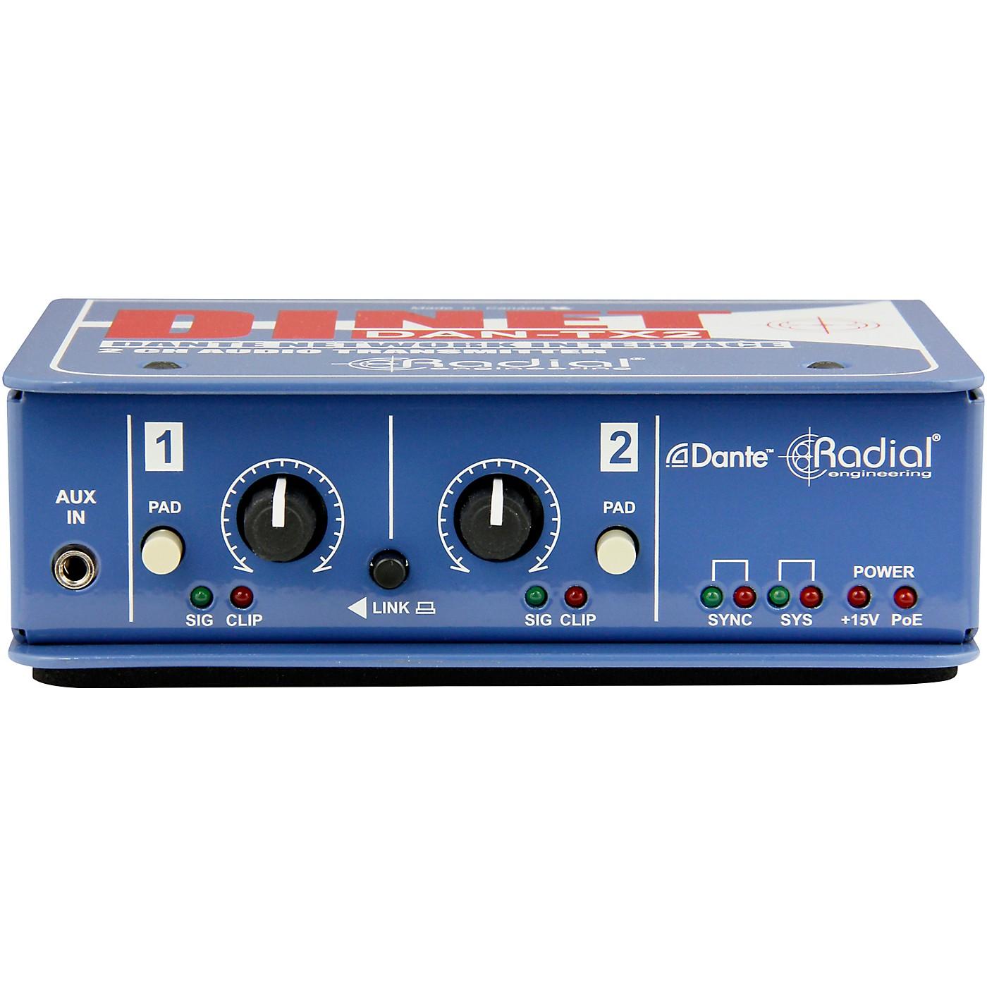 Radial Engineering DiNET DAN-TX2 2-Channel Dante Network Transmitter thumbnail