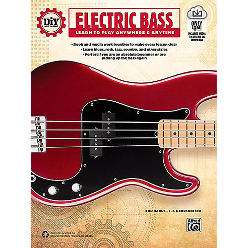 Alfred DiY (Do it Yourself) Electric Bass - Book & Streaming Video thumbnail