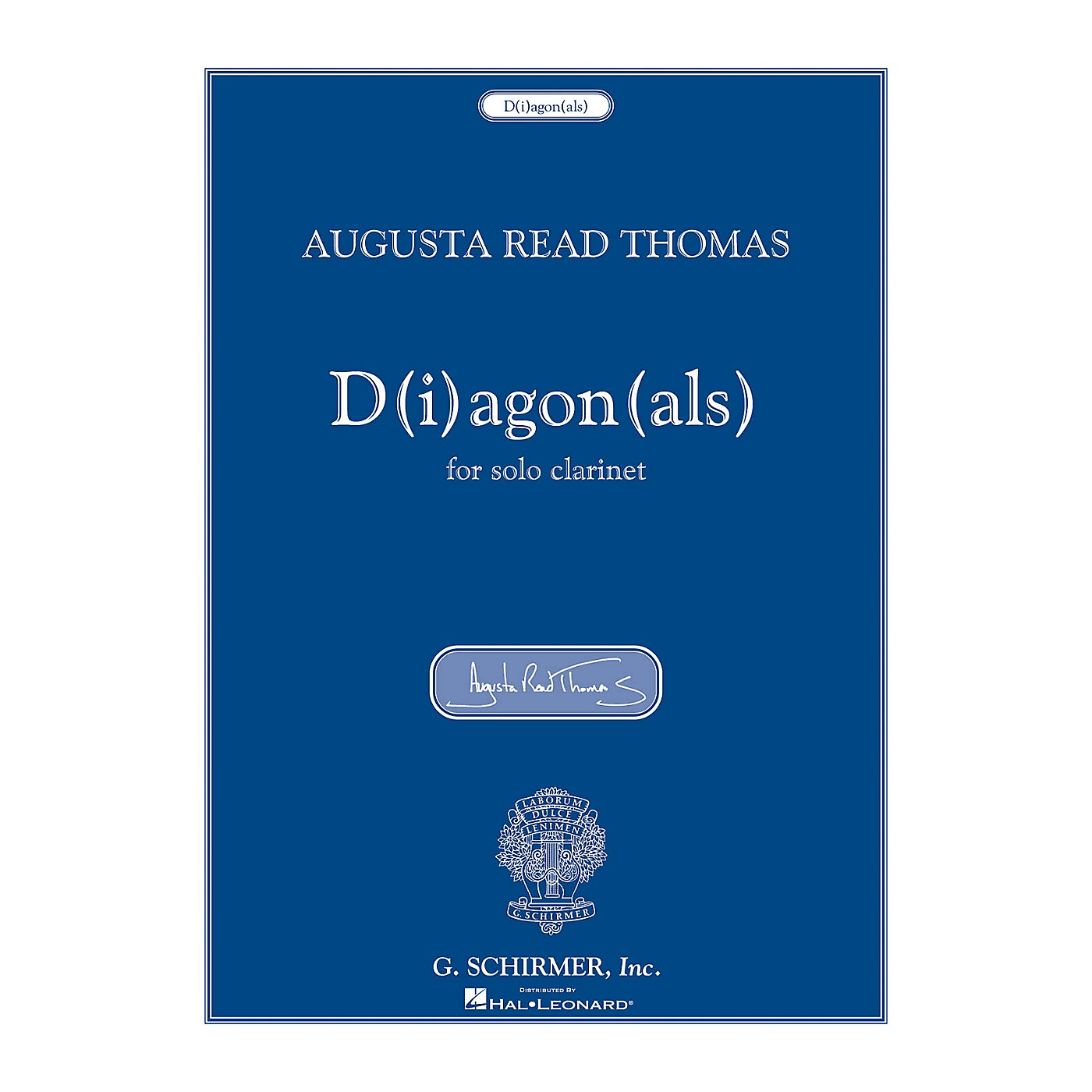 G. Schirmer D(i)agon(als) (for Solo Clarinet) Woodwind Solo Series thumbnail