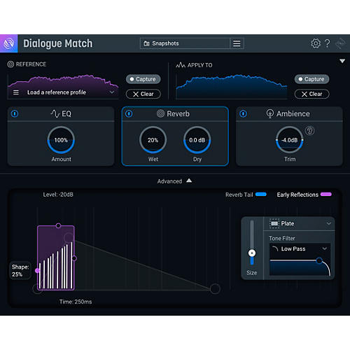 iZotope Dialogue Match: Crossgrade from any Surround Reverb (Download) thumbnail