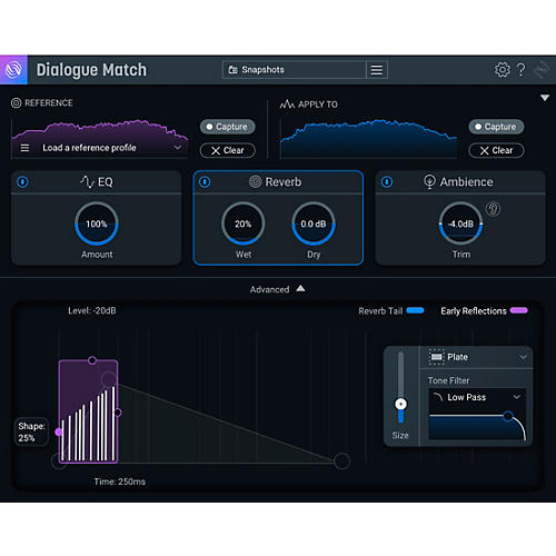 iZotope Dialogue Match: Crossgrade from any standard or advanced product (Download) thumbnail