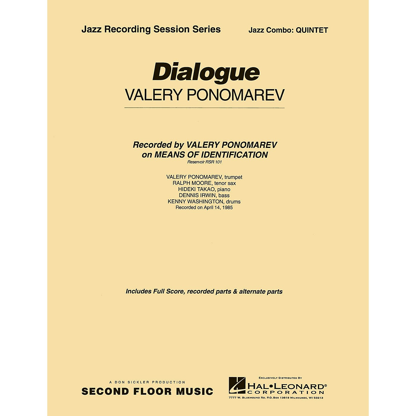 Second Floor Music Dialogue (Quintet) Jazz Band Level 4-5 Composed by Valery Ponomarev thumbnail