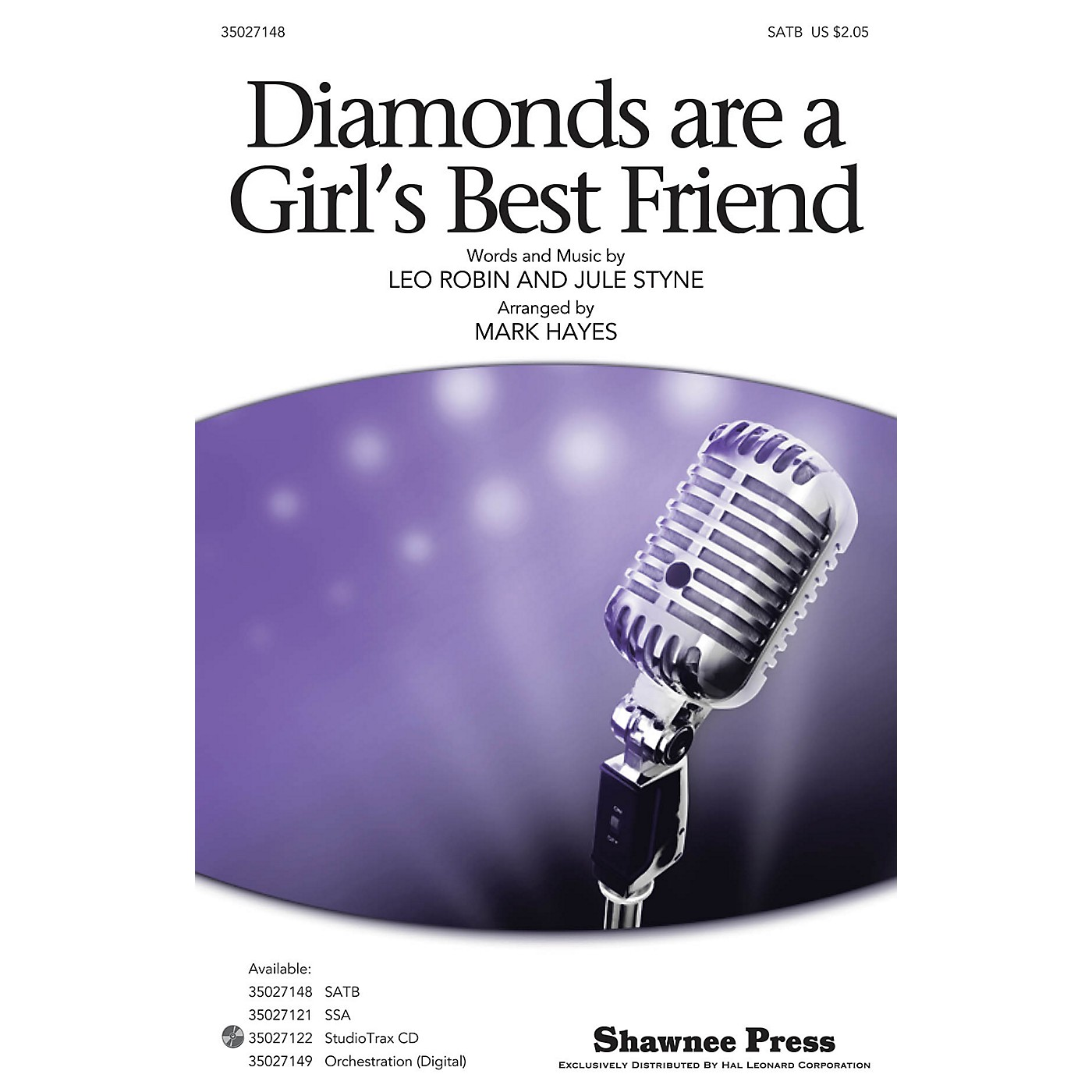 Shawnee Press Diamonds Are a Girl's Best Friend SATB arranged by Mark Hayes thumbnail