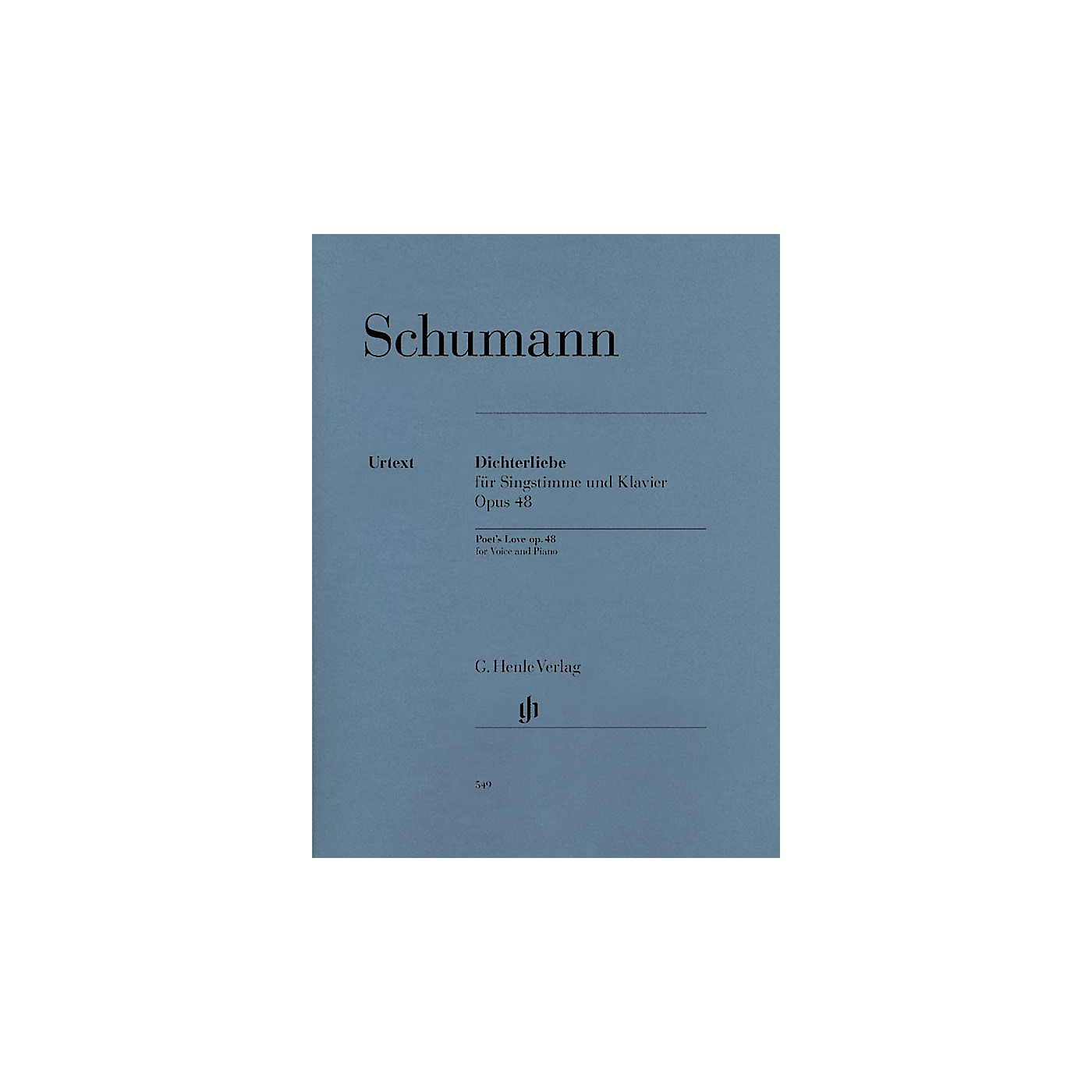 G. Henle Verlag Dichterliebe for Voice and Piano, Op. 48 Henle Music Softcover by Robert Schumann Edited by Kazuko Ozawa thumbnail