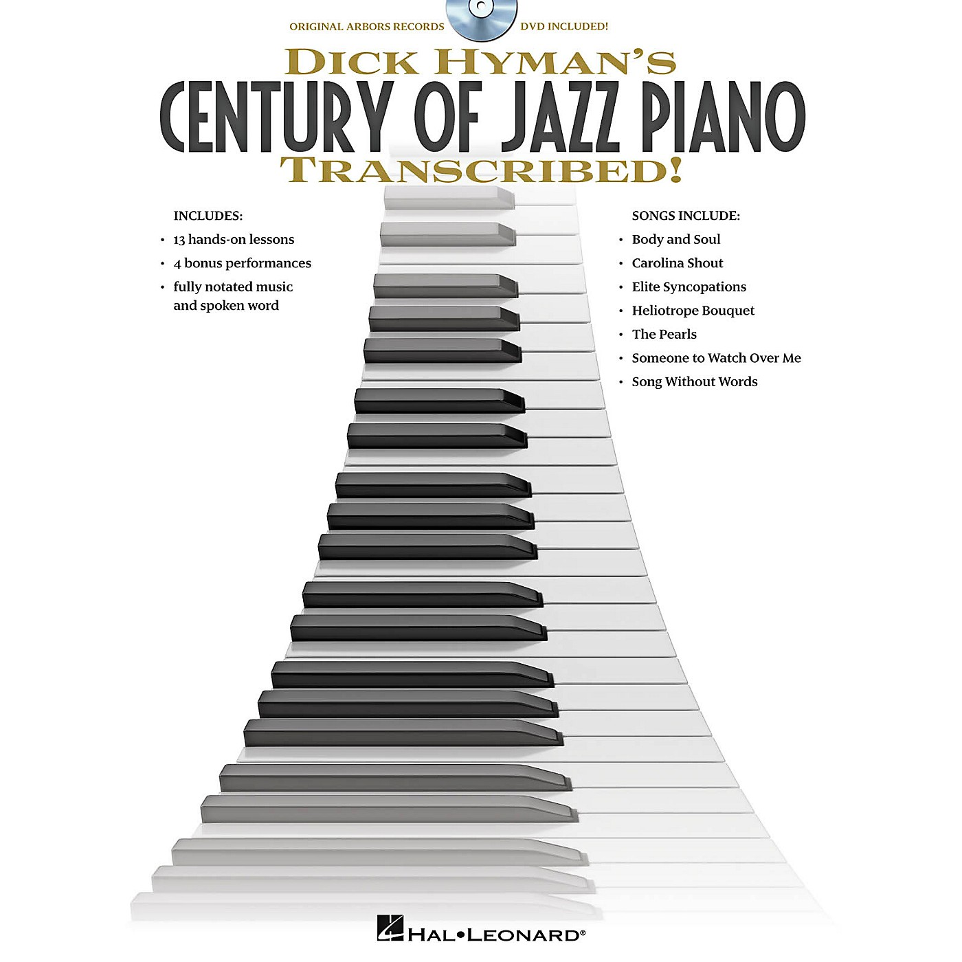 Hal Leonard Dick Hyman's Century Of Jazz Piano - Transcribed!  Instructional Book/DVD thumbnail