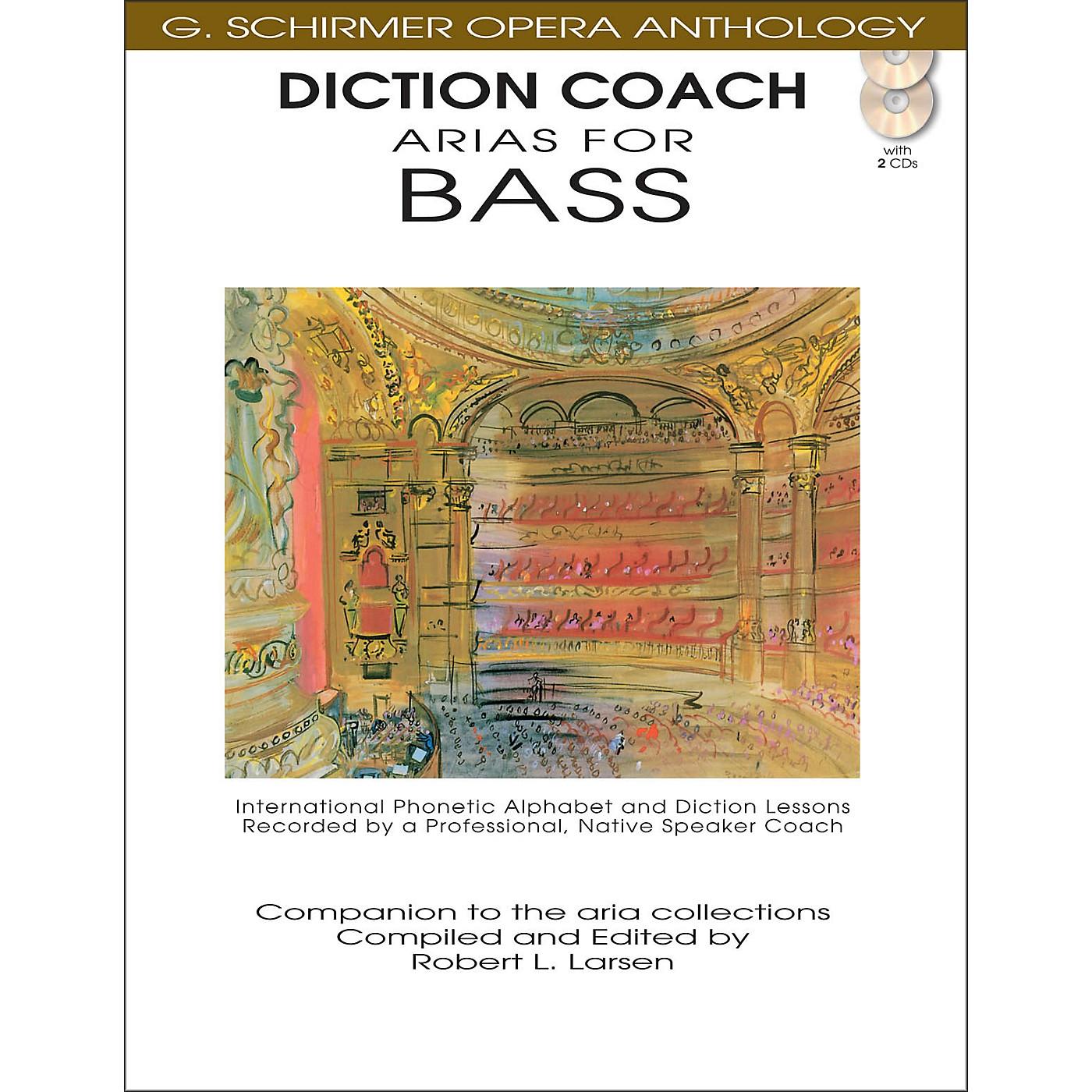 G. Schirmer Diction Coach - Arias for Bass G. Schirmer Opera Anthology Book/2CD's thumbnail