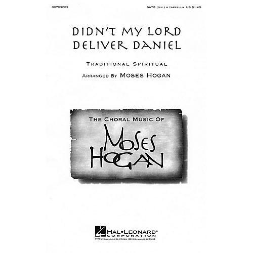 Hal Leonard Didn't My Lord Deliver Daniel SATB DV A Cappella arranged by Moses Hogan thumbnail