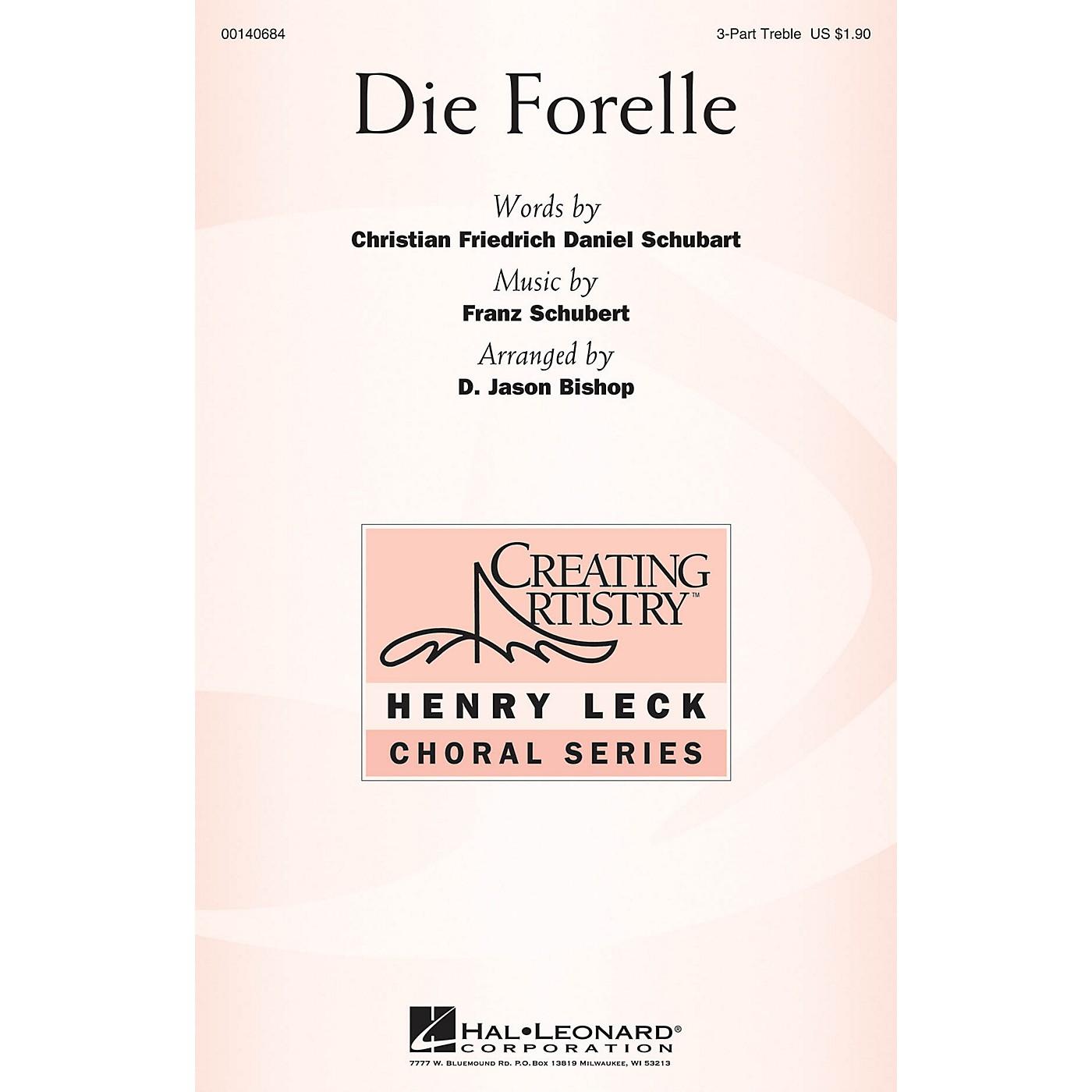 Hal Leonard Die Forelle 3 Part Treble arranged by D. Jason Bishop thumbnail