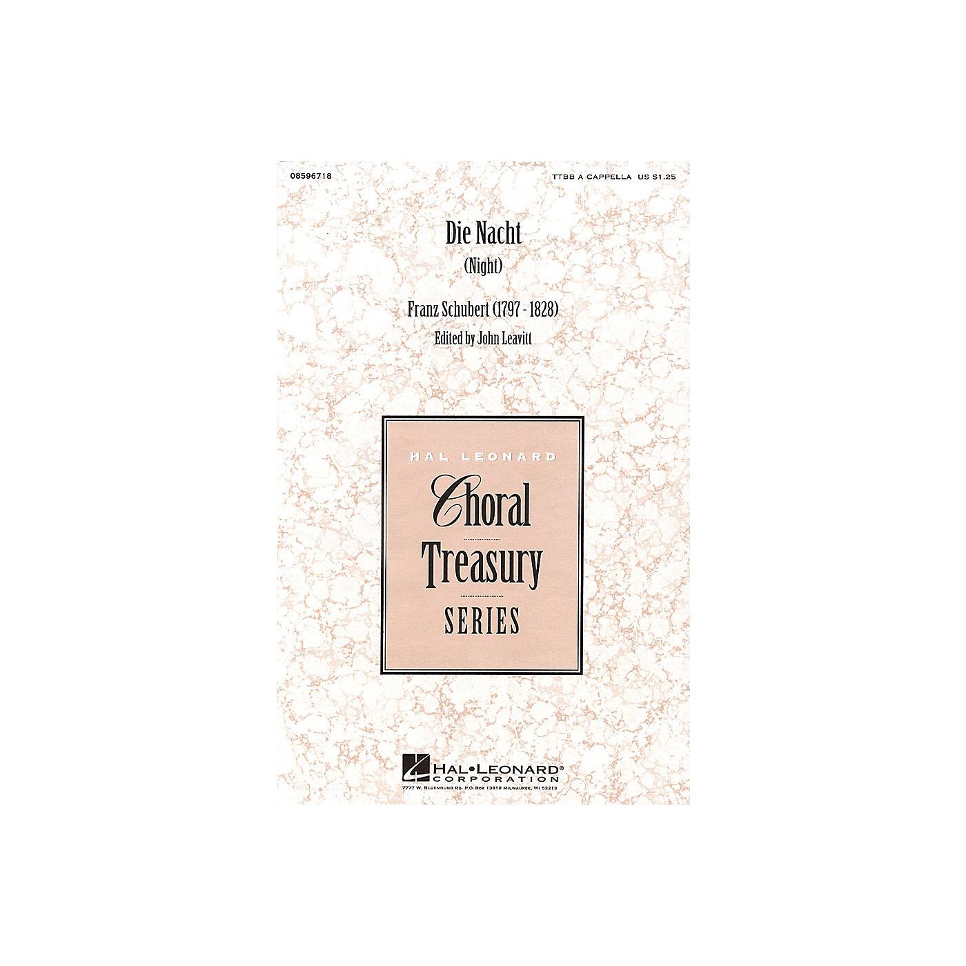 Hal Leonard Die Nacht (Night) TTBB A Cappella arranged by John Leavitt thumbnail