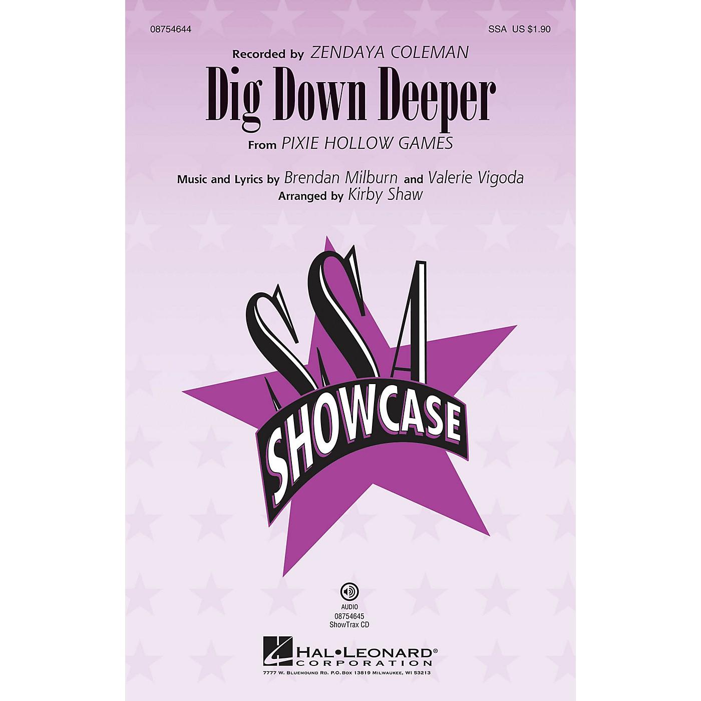 Hal Leonard Dig Down Deeper SSA by Zendaya Coleman arranged by Kirby Shaw thumbnail