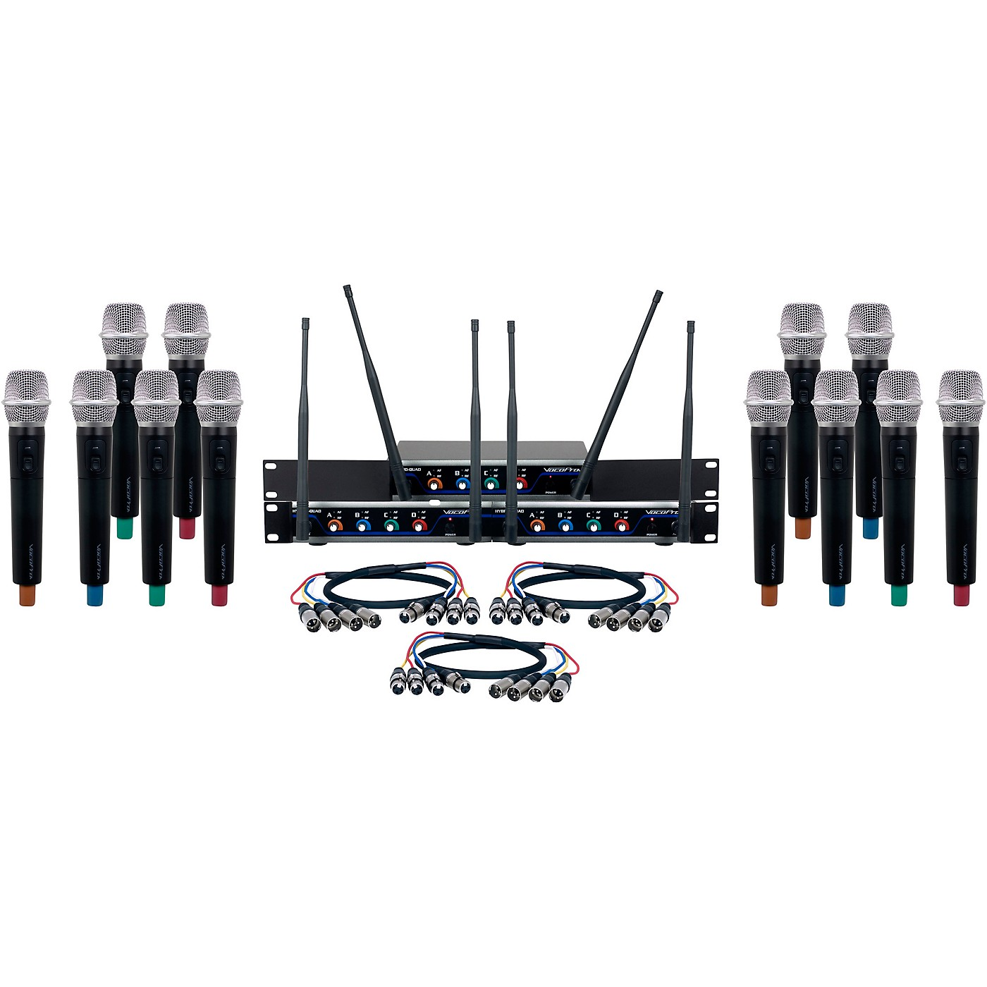 VocoPro Digital-Acapella-12 12-Channel UHF Wireless Handheld Microphone System thumbnail