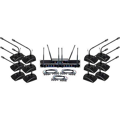 VocoPro Digital-Conference-12 Twelve Channel UHF Wireless Conference Microphone System thumbnail