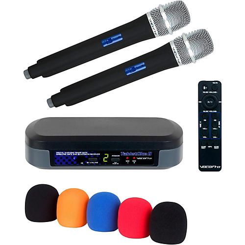 VocoPro Digital Karaoke Mixer with Wireless Mics and Bluetooth Receiver And Mic Wind Screen(5) thumbnail