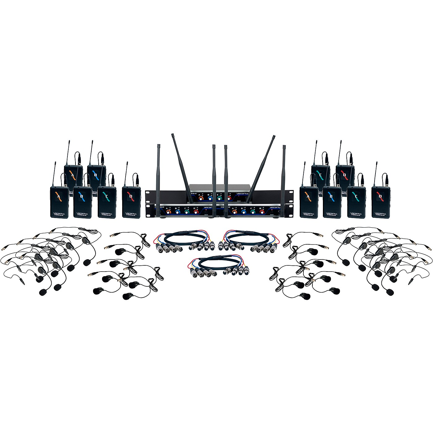 Vocopro Digital-Play-12 12-Channel UHF Wireless Headset/Lapel Microphone System thumbnail