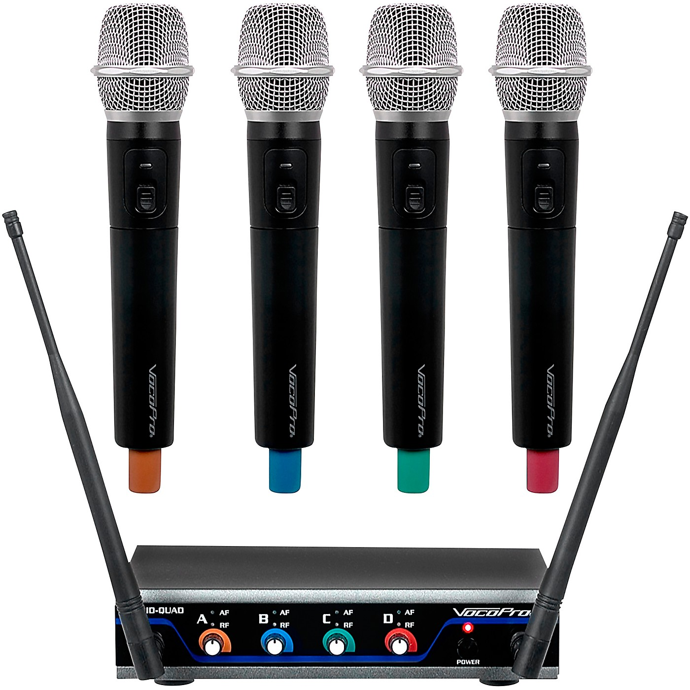VocoPro Digital-Quad-H Wireless Handheld Microphone System, Frequency Set 1 thumbnail