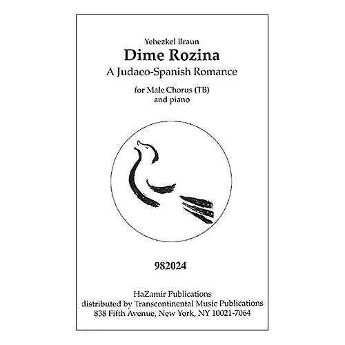 Transcontinental Music Dime Rozina TB arranged by Yehezkel Braun thumbnail