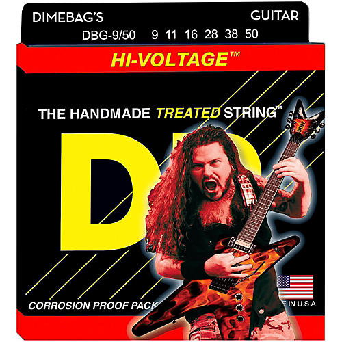 DR Strings Dimebag Darrell DBG-9/50 Signature Hi-Voltage Electric Guitar Strings thumbnail