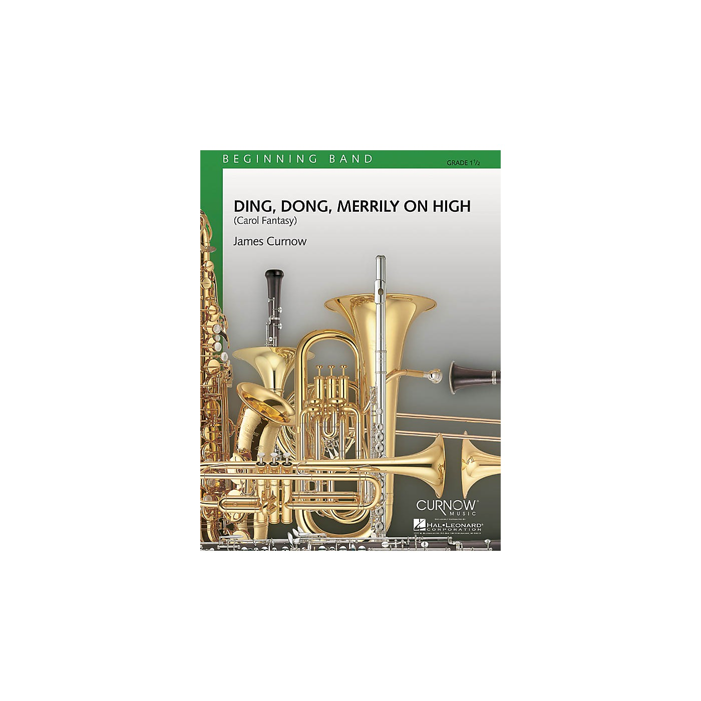 Curnow Music Ding Dong Merrily on High (Grade 1.5 - Score and Parts) Concert Band Level 1.5 Arranged by James Curnow thumbnail