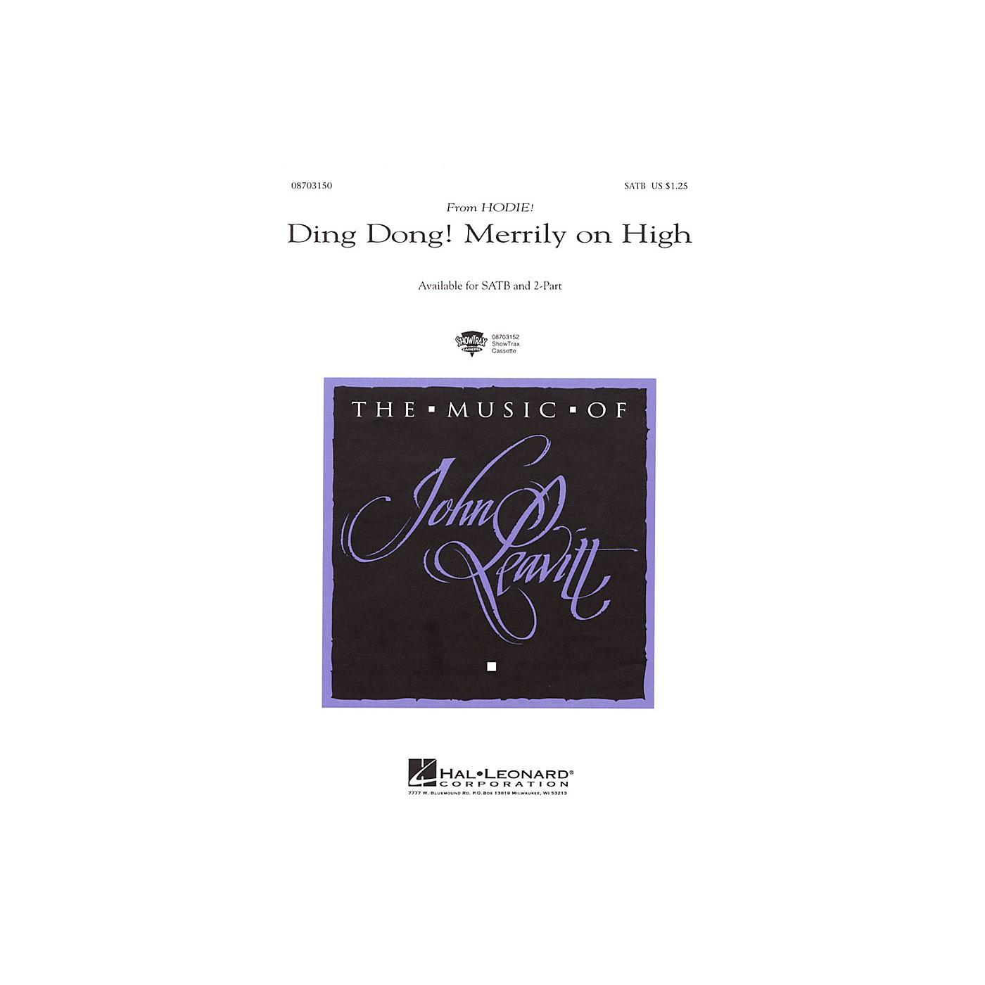 Hal Leonard Ding Dong! Merrily on High SATB arranged by John Leavitt thumbnail
