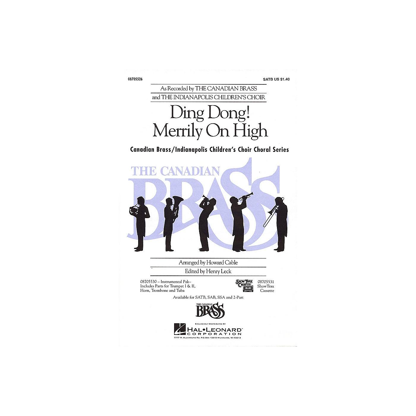 Hal Leonard Ding Dong! Merrily on High SATB thumbnail