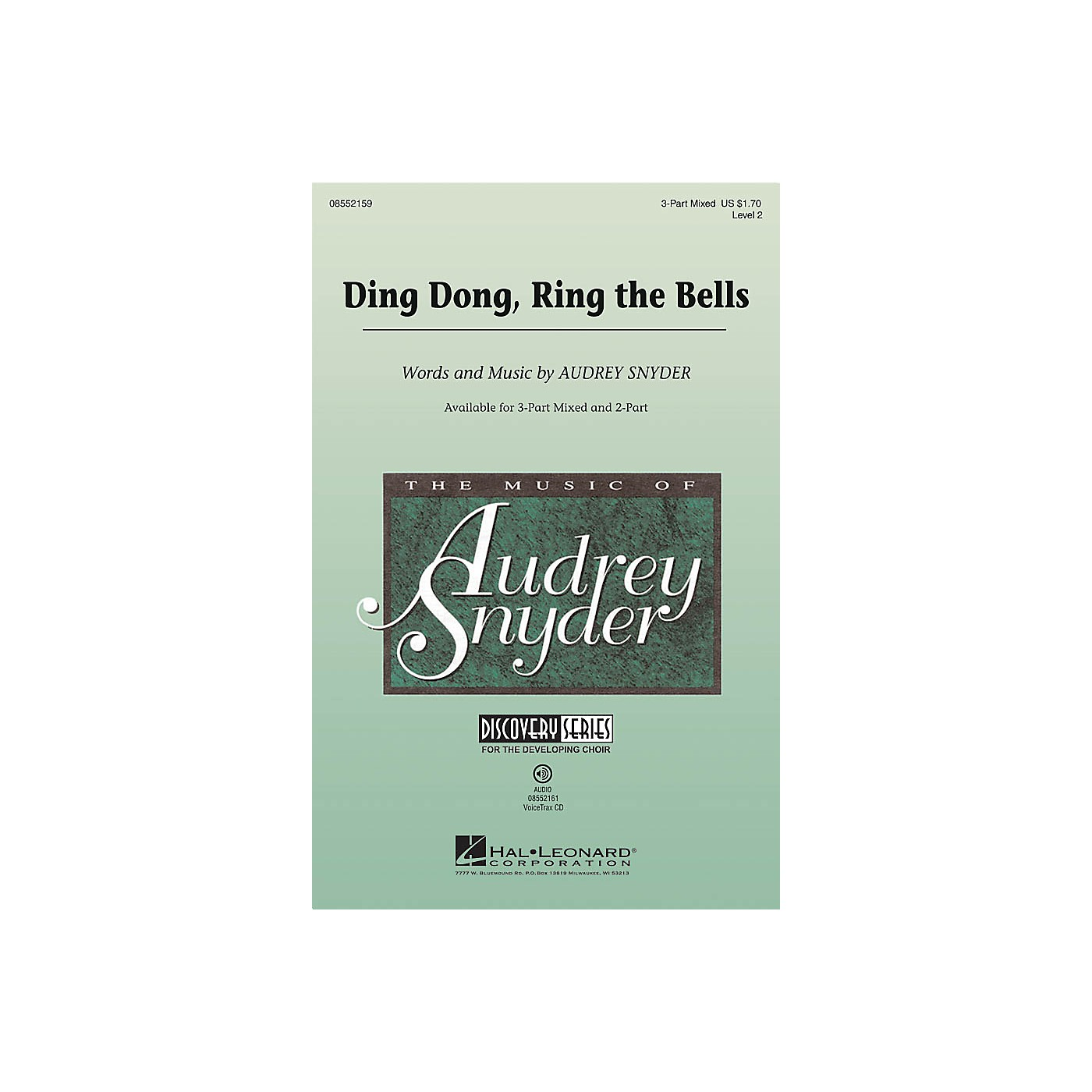Hal Leonard Ding Dong, Ring the Bells (Discovery Level 2) 2-Part Composed by Audrey Snyder thumbnail