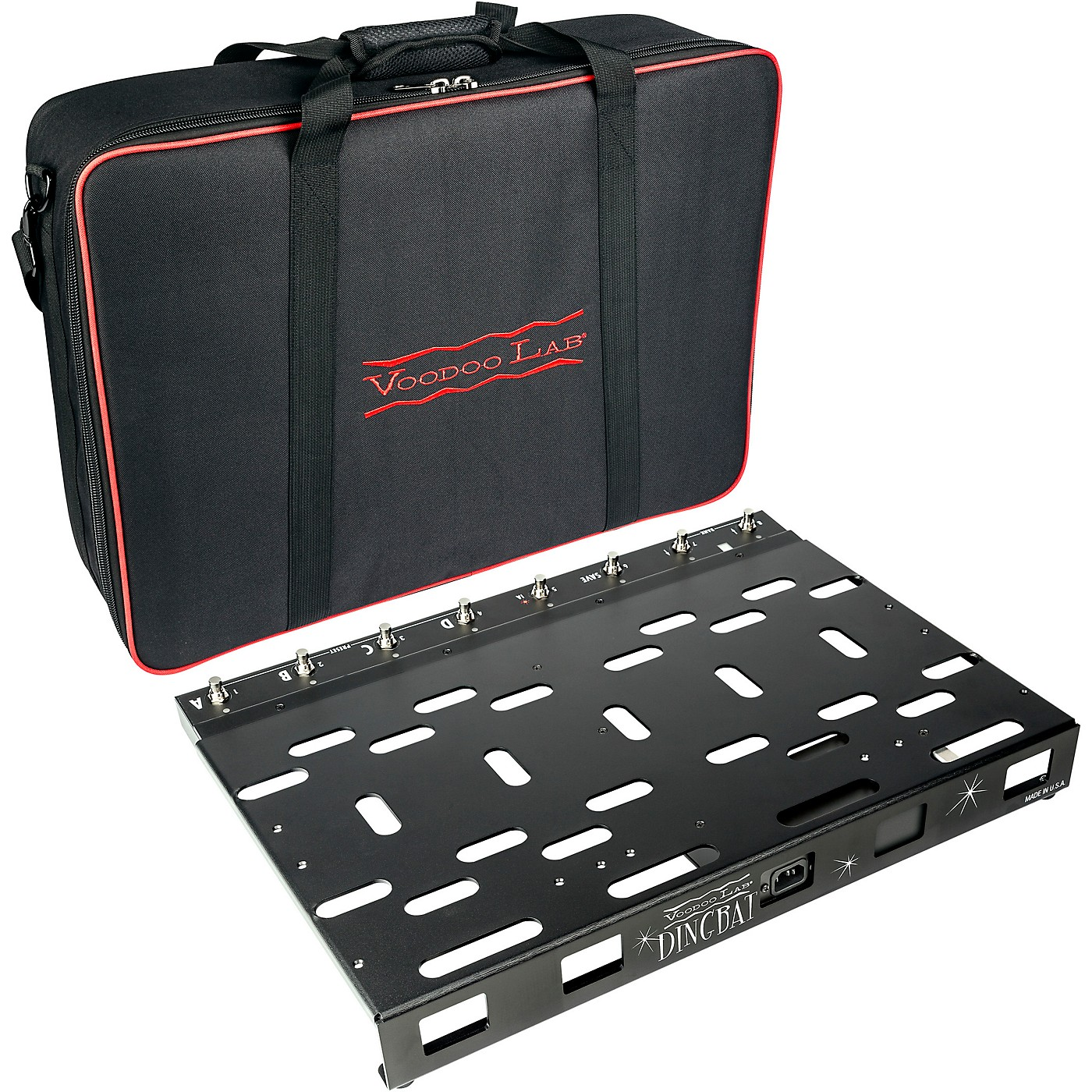 Voodoo Lab Dingbat PX Pedalboard Power Package with 8-Loop Pedal Switcher and Pedal Power 3 PLUS thumbnail