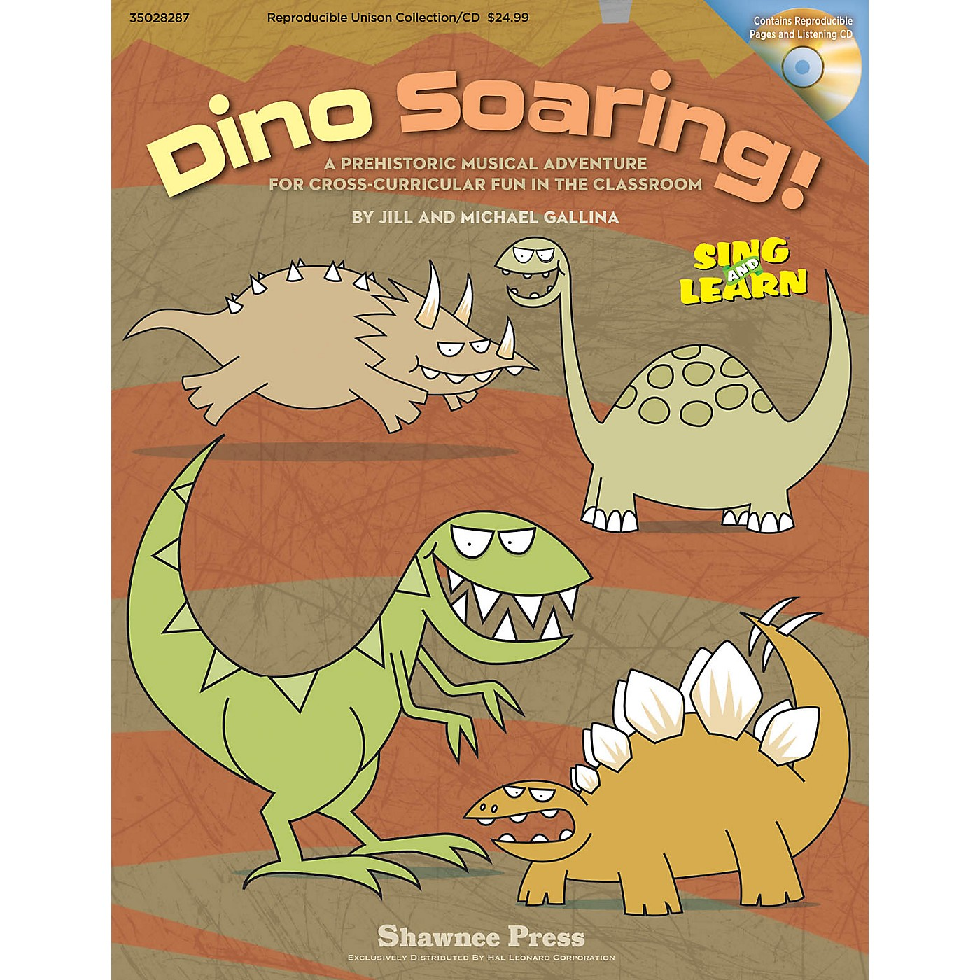 Shawnee Press Dino Soaring! REPRO COLLECT UNIS BOOK/CD Composed by Jill Gallina thumbnail