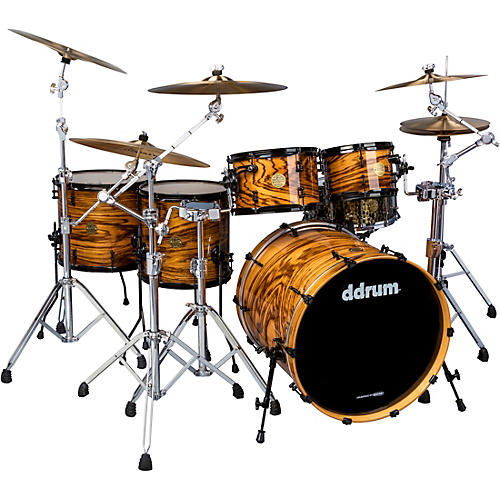 Ddrum Dios 5-piece Exotic Zebra Wood Shell Pack with 22